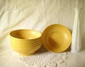 Vintage Tupperware Bowls Mustard Yellow Bowls Golden Yellow Bowls Set of 6