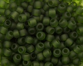 "Transparent Frosted Olivine Toho Seed Bead 11/0 2.5"" Tube TR-11-940F/C"