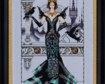 Cross Stitch Pattern, The Raven Queen Counted Cross Stitch Pattern, by Nora Corbett, Mirabilia Designs, WI