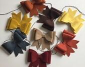 Fall felt bow garland