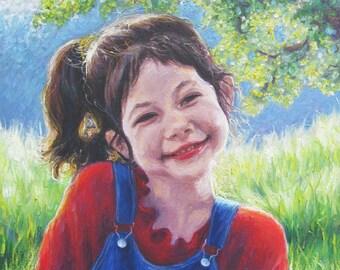 """Custom Portrait and Landscape...Original Oil Painting, Large, Fine Art... 18"""" x 24"""""""