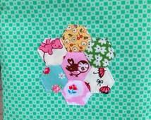 Small Zipper Pouch Hexagon Pouch Zipper Purse Hexagon Flower Small Zipper Bag Hexagon Coin Purse Makeup Bag Mini Zipper Pouch Mini Hexagon
