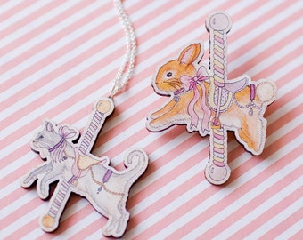 Animal Carousel Necklace