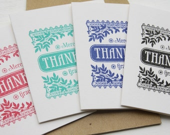 Mini Thank You Cards - Set of 4