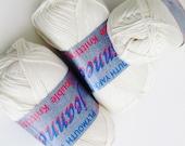 Offwhite Ivory Yarn DK Jeannee Double Knitting Soft DIY Yarn by Plymouth Yarn Company Cotton Acrylic Blend