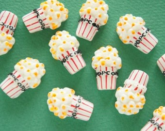 6 pcs A Cup of  Popcorn Cabochon (17mm25mm) CD613