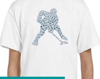 Personalized Hockey Player Goalie T Shirt,  T-Shirt, Tee