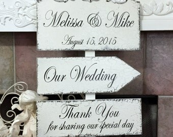 WEDDING SIGNS, Bride and Groom Signs, Thank You Signs, Mr. and Mrs. Signs, Wood Wedding Signs