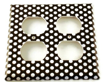 Light Switch Cover Double Outlet Wall Decor Switchplate Switch Plate in  Polka Dots Rock (207DO)