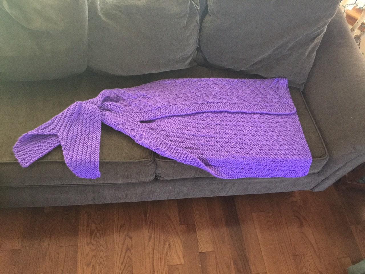 Lapghan Knitting Pattern : Mermaid Tail Lapghan Blanket Knitting Pattern for ?? 4aSong
