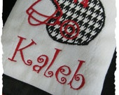 Personalized/Monogrammed Alabama Initial Burp Cloth for Boy or Girl