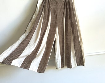 Vintage Silk Striped Culottes.