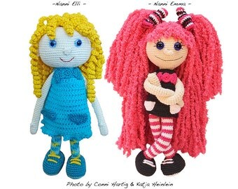Nanni by Conni Hartig, crochet pattern, pdf tutorial, amigurumi girl by doll file girl dolly maid ebook human people girlie child puppet