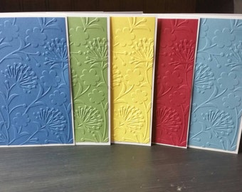 Handmade greeting cards-Set of Note Cards-Paper Handmade Cards-Paper Cards-Hostess Gift-Birthday Cards-Set of Blank Cards-Embossed Cards