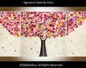 "Art Painting Acrylic abstract Landscape Canvas art Wall Art wall decor tree Painting ""Autumn Love"" by qiqigallery"