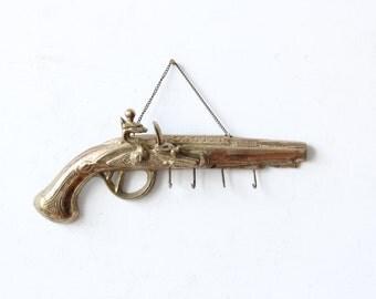 Brass Gun Key Hook Holder