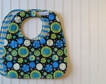 Hoopla  - Reversible Eco-Friendly Sewn Baby Bib