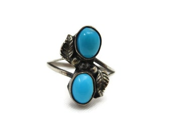 Sterling Turquoise Ring - Silver, Native American Navajo Style, Turquoise Jewelry