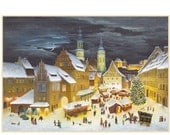 Advent Calendar Germany Christmas Market With DIY Dresden Trims  #2384