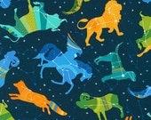 Constellations Night Sky Animals Robert Kaufman Fabric 1 yard