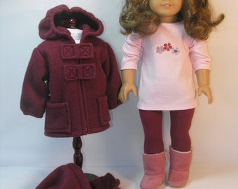 18 Inch Doll Clothes Jacket Boots Hat Leggings  15816