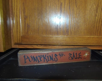 Pumpkins for Sale Chunky Sign