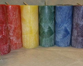Chakra Pillar Candles (Set of 9)