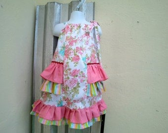 RUFFLES AND FLORAL Pillowcase dress