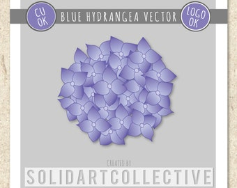 HYDRANGEA Custom Vector Design - ok for Logos, Merchandising, Commercial, Invitations and More!