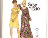Butterick 6124 Vintage 70s Aline Dress Sewing Pattern Size Medium 12 14 UNCUT