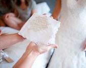 Lace Handkerchief - Lace Hankie - Custom Handkerchief - Embroidered Handkerchief - Bridal Handkerchief - Personalized Wedding Handkerchief