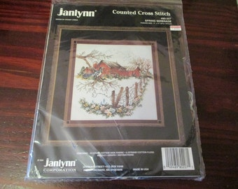 Counted Cross Stitch Kit Spring Serenade Janlynn Designs 80-207 Sealed Kit