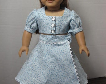Blue Playsuit of 1940, Outfit and shoes from Liberty Jane Patterns