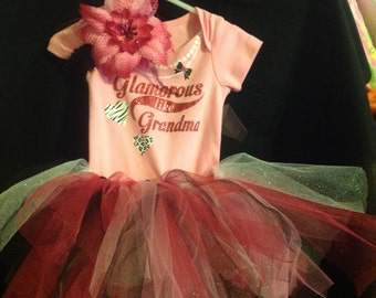 Bodysuit with tutu skirt and headband