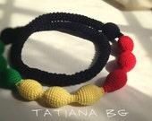 Crochet  Nursing necklace Rasta mama