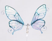 1/15 OOAK Butterfly wings for Dolls - Autum - Iridescent Turquoise Blue