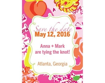 Save the Date Magnets--for the Lilly Pulitzer lover-State prints