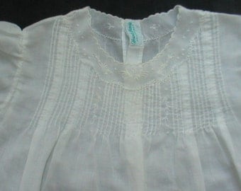 White Baby Dress Vintage Antique Embroidered Christening Dress