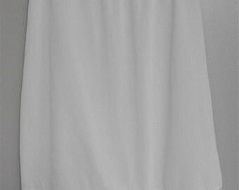 Vintage White Half Slip