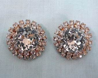 Vintage Diamond Crystal Earrings