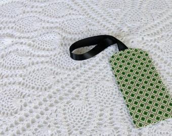 Green Diamonds -  Luggage Tag
