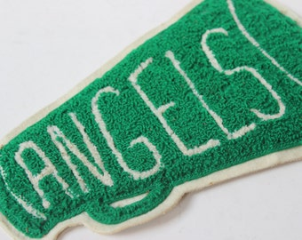 Vintage Angels Letterman Jacket Patch Yell Leader Megaphone Felt Highschool Letter