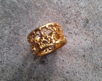 24K Gold Plated Filigree Ring