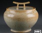 Small Lidded Stoneware Jar