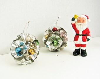 Vintage Foil Christmas Tree Ornaments