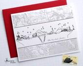 Flat United States Skyline - Folded Cards (6)