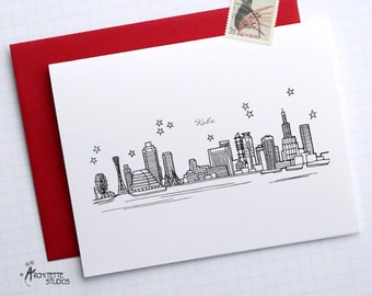 Kobe, Japan - Asia/Pacific - Skyline Series - Folded Cards (6)