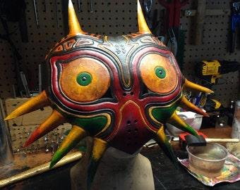 Leather Zelda Majora's mask Handmade by Skinznhydez