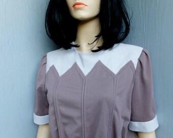 1970s/80s Day Dress, Cora's Closet, New w/Tags, NOS, School or Secretary, size 14 Petite