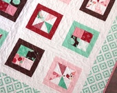 Baby Toddler Crib Quilt Into the Woods Fabric